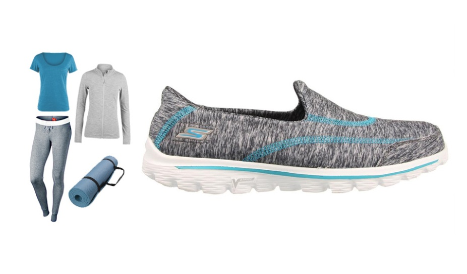 Sporty Mum - Go Walk 2 Heathered Grey Turq
